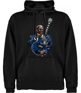 B.B.King Guitar Sudadera con capucha y bolsillo