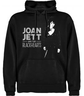 Joan Jett & The Black Hearts Sudadera con capucha y bolsillo - Talla XL