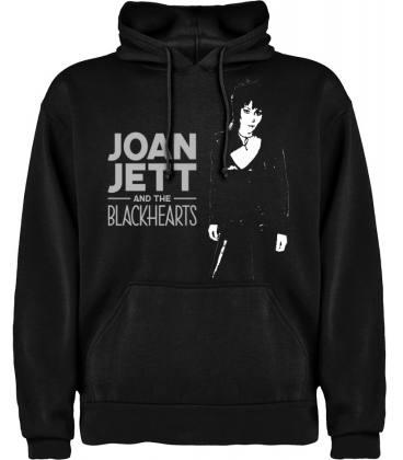 Joan Jett & The Black Hearts Sudadera con capucha y bolsillo - Talla XL
