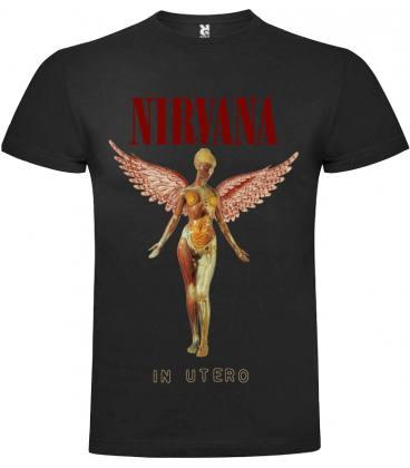 Nirvana In Utero Camiseta Manga Corta Bandas