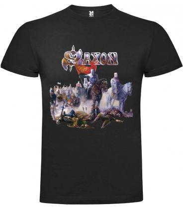 Saxon Crusader Camiseta Manga Corta Bandas