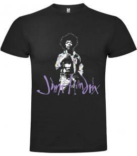 Jimi Hendrix Portrait Camiseta Manga Corta Bandas