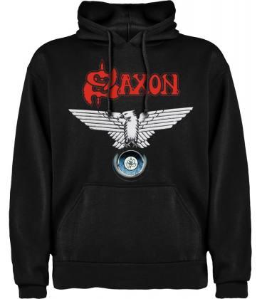 Saxon Wheels of Steel Sudadera con capucha y bolsillo