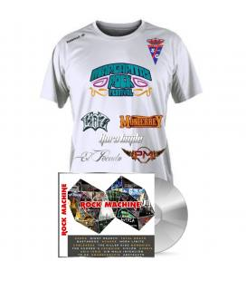 Pack Rock Machine Compilation (1 CD+Camiseta Fútbol margaritas Rock Festival)