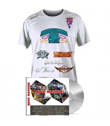 Pack Rock Machine Compilation(1 CD+Camiseta Fútbol margaritas Rock Festival)