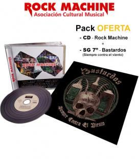 """Rock Machine Compilation (CD) + Siempre Contra el Viento (7"""")"""