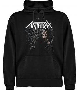 Anthrax King Sudadera con capucha y bolsillo