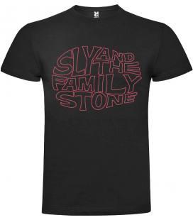 Sly & The Family Stone Logo Camiseta Manga Corta Bandas