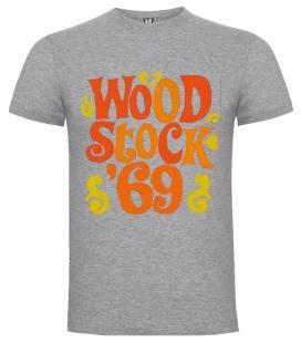 Woodstock 69 Camiseta Manga Corta Bandas