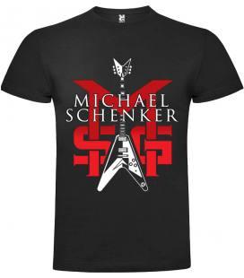 Michael Schenker Group Guitar Camiseta Manga Corta Bandas
