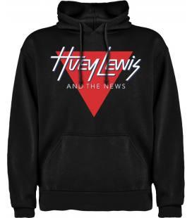 Huey Lewis And The News Logo Sudadera con capucha y bolsillo
