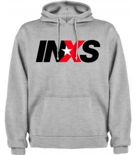 Inxs Logo Sudadera con capucha y bolsillo