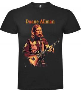 Duane Allman Guitar Camiseta Manga Corta Bandas