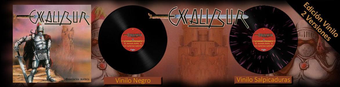 """Excalibur. """"Generación Maldita"""". Edición Vinilo disponible en 2 versiones: Black y Splatter"""
