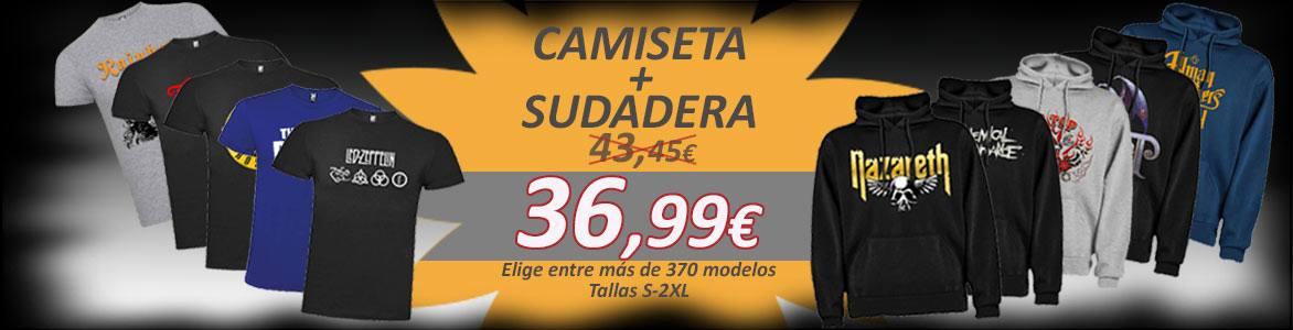 Oferta por tiempo limitado, Camiseta + Sudadera (tallas S-2XL) sólo 36,99€
