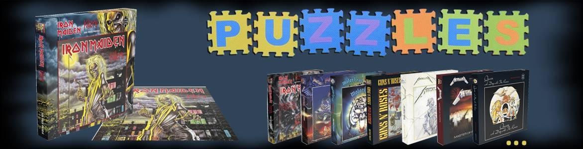 Puzzles de Iron Maiden, Metallica, Slayer, Queen, Guns 'N Roses, Motörhead...