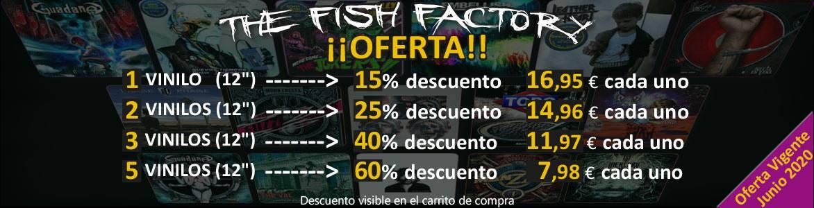 Oferta Vinilos The Fish Factory, hasta el 60% de descuento